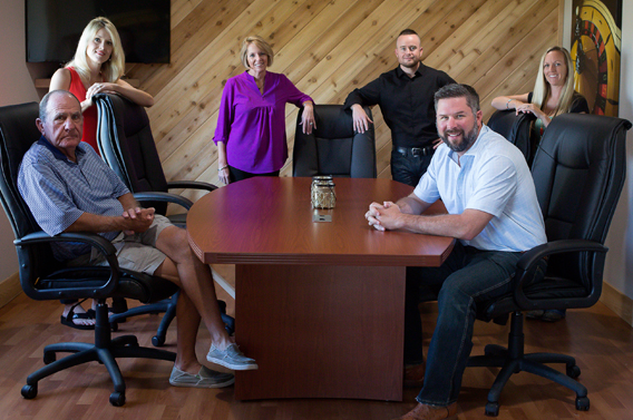Goetz Realty Team at the office in Gunter, TX